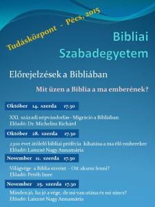Bibliai Szabadegyetem 2015