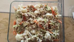 Kínai zöldséges rizs tojással